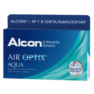 AIR Optix  Aqua (3 линзы) (эир оптикс аква)