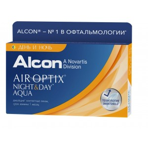 AIR Optix Night and Day Aqua (3 линзы) (эир оптикс найт энд дей)