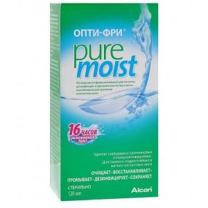 Раствор Opti-Free Pure Moist (опти-фри пью мойст) 120 мл с контейнером